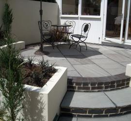 Pack D Indian Sandstone Kandla Grey- Riven face and edge