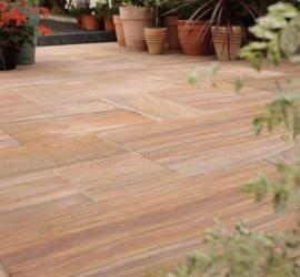 Pack J Indian Sandstone Rainbow Honed Face and edge