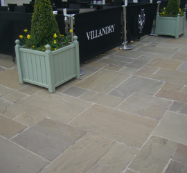 Pack G Indian Sandstone Raj Green- Riven face and edge