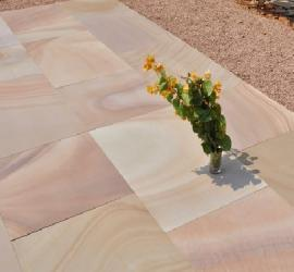 Pack P Indian Sandstone Buff-Honed Face and edge