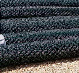 Green Plastic Coated Chain Link